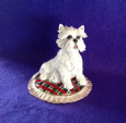 Eve Pearce Hand-Made Model - West Highland White Terrier (Westie) on Cushion * SALE *